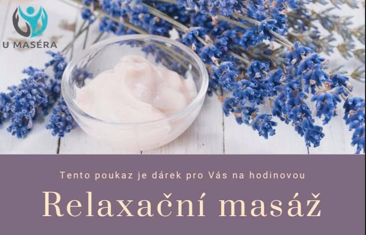 poukaz na relaxační masáž